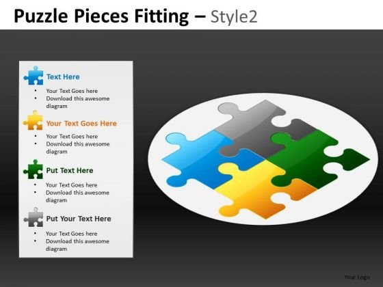Text Boxes Puzzles PowerPoint Templates And Ppt Slides