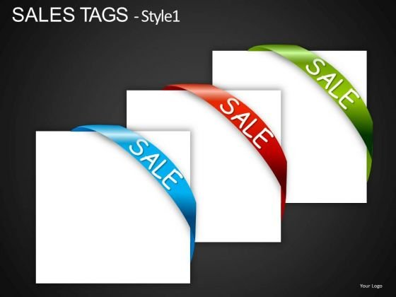 Text Boxes With Sale Ribbons PowerPoint Slides And Ppt Templates