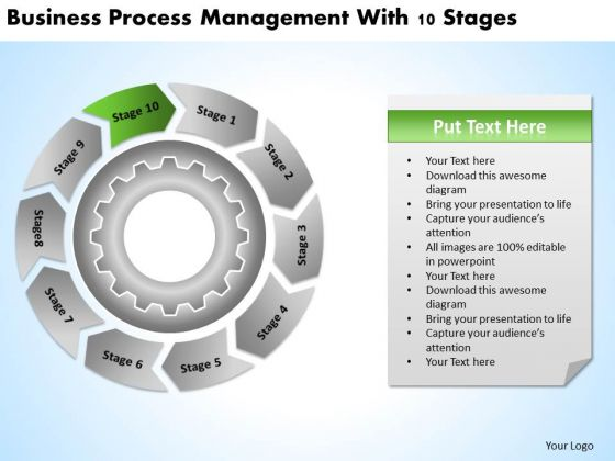Theme Process Management With 10 Stages Ppt New Business Plan Template PowerPoint Templates