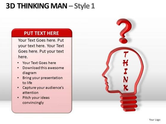 Think Hard PowerPoint Templates And Thinking Man Ppt Slides