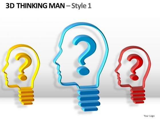 Thinking Men With Questions PowerPoint Templates And Ppt Slides