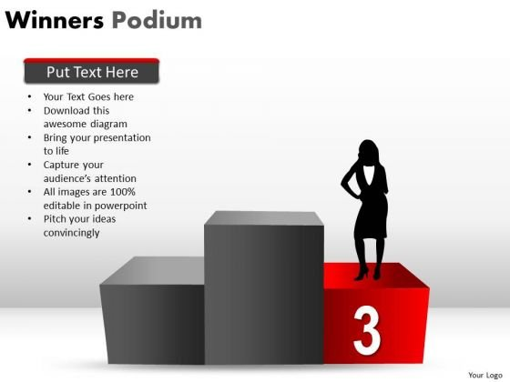 Third Place Winners Podium PowerPoint Slides And Ppt Diagram Templates