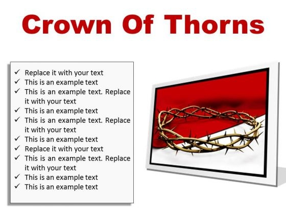 Thorns Of Crown Religion PowerPoint Presentation Slides F