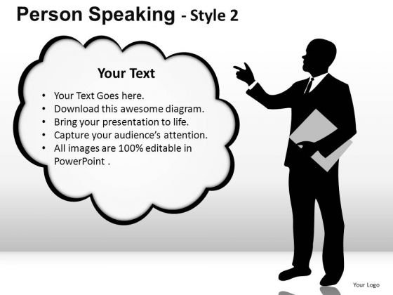 Thought Cloud Person Speaking PowerPoint Slides And Ppt Diagram Templates