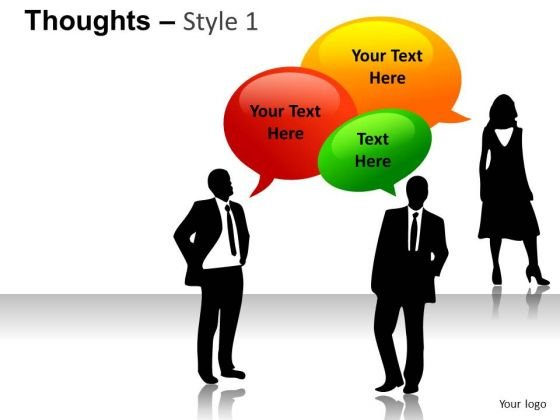 Thoughts Bubbles PowerPoint Slides And Ppt Images