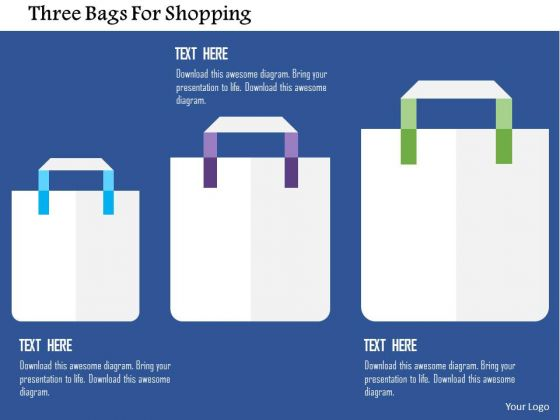 Three Bags For Shopping Presentation Template