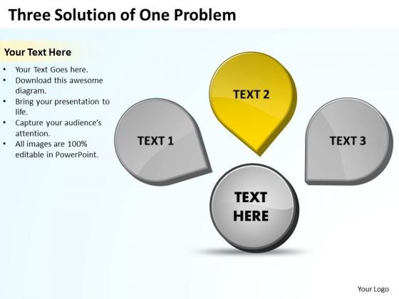 Three Solution Of One Problem Ppt Circular Process Network PowerPoint Templates