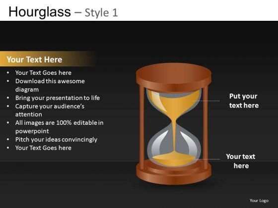 Time Urgency Concept Hourglass PowerPoint Templates