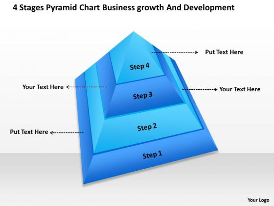 Timeline 4 Stages Pyramid Chart Business Growth And Development
