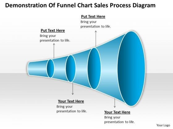 Timeline Demonstration Of Funnel Chart Sales Process Diagram 4 Stages