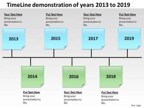 Timeline Demonstration Of Years 2013 To 2019 PowerPoint Templates Ppt Slides Graphics