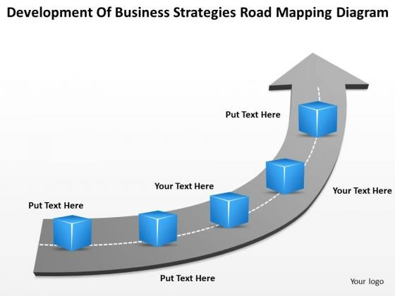 Timeline Development Of Business Strategies Road Mapping Diagram