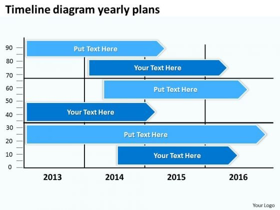 Timeline Diagram Yearly Plans PowerPoint Templates Ppt Slides Graphics