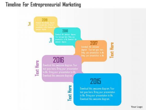 Timeline For Entrepreneurial Marketing Presentation Template