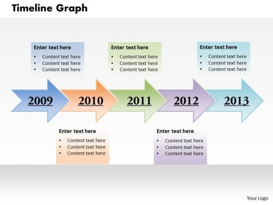 Timeline Graph PowerPoint Presentation Template