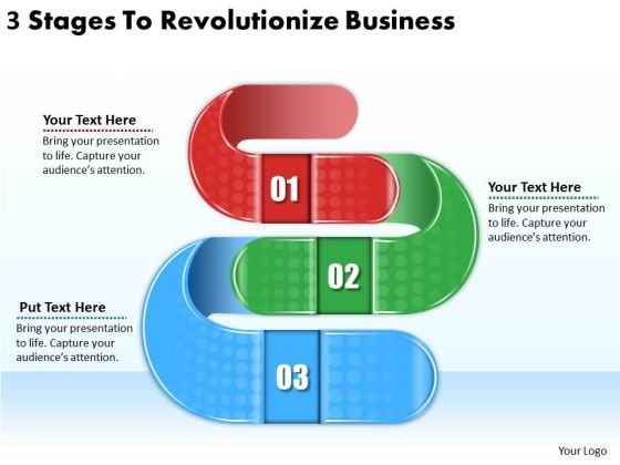 Timeline PowerPoint Template 3 Stages To Revolutionize Business