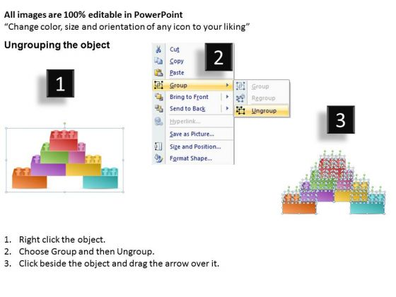 Timeline Powerpoint Template  Stages Lego Production Process