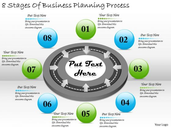 Timeline PowerPoint Template 8 Stages Of Business Planning Process