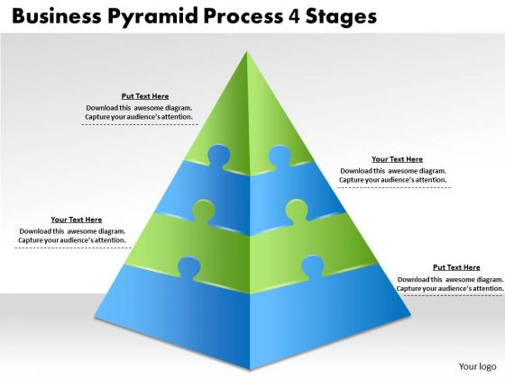 Timeline PowerPoint Template Business Pyramid Process 4 Stages