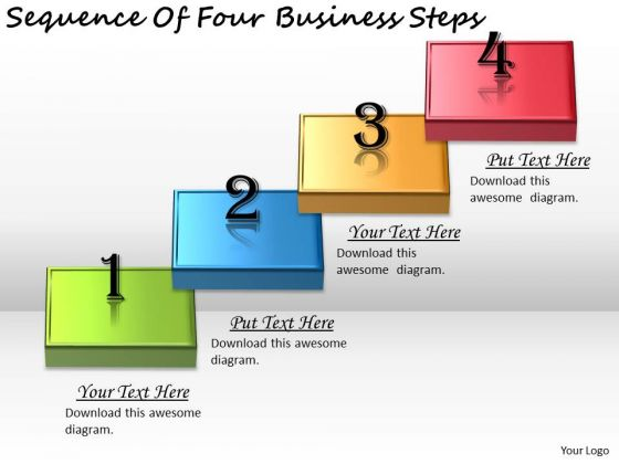 Timeline PowerPoint Template Sequence Of Four Business Steps