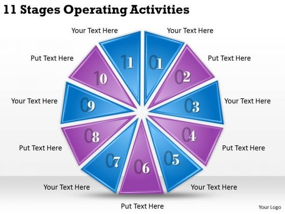 Timeline Ppt Template 11 Stages Operating Activities