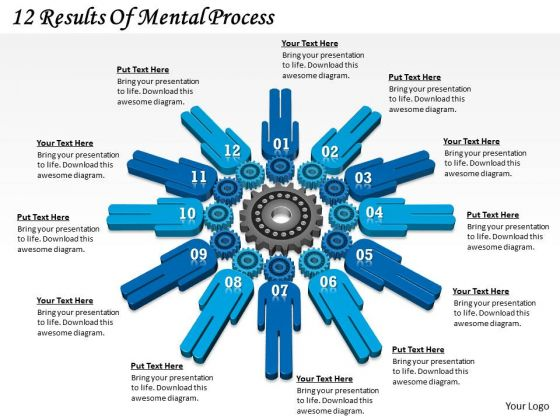 Timeline Ppt Template 12 Results Of Mental Process