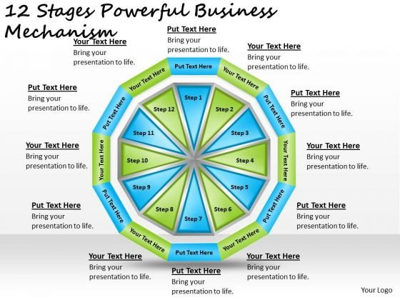 Timeline Ppt Template 12 Stages Powerful Business Mechanism