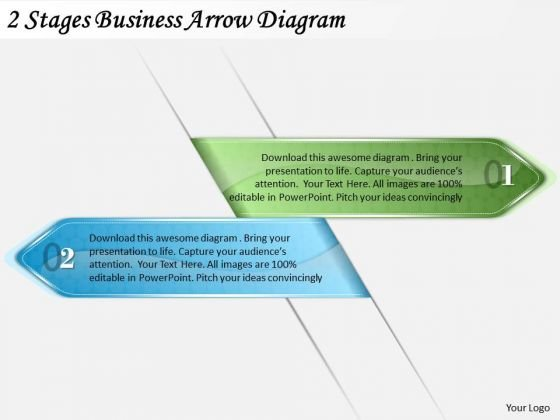 Timeline Ppt Template 2 Stages Business Arrow Diagram