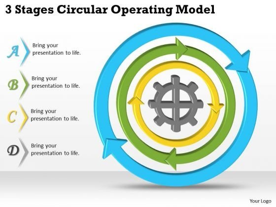 Timeline Ppt Template 3 Stages Circular Operating Model
