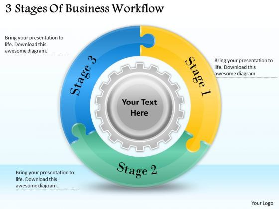 Timeline Ppt Template 3 Stages Of Business Workflow