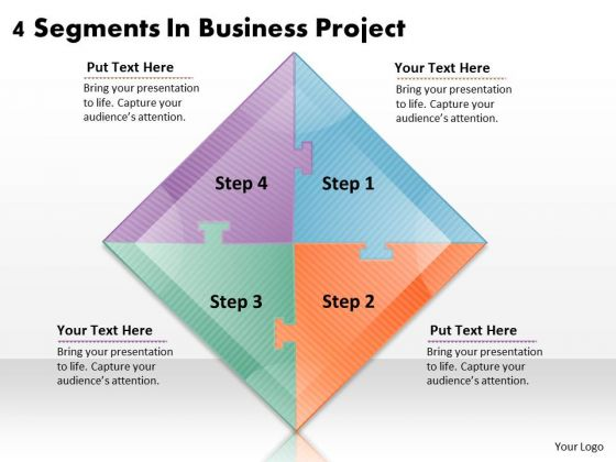 Timeline Ppt Template 4 Segments In Business Project