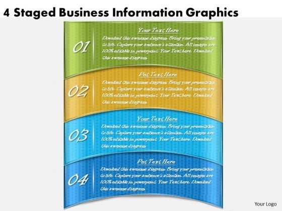 Timeline Ppt Template 4 Staged Business Information Graphics