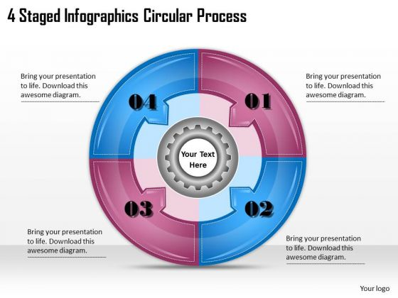 Timeline Ppt Template 4 Staged Infographics Circular Process