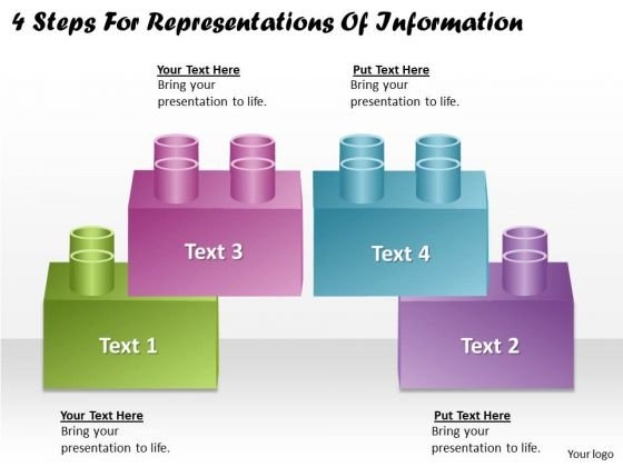 Timeline Ppt Template 4 Steps For Representations Of Information