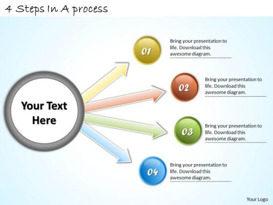 Timeline Ppt Template 4 Steps In A Process