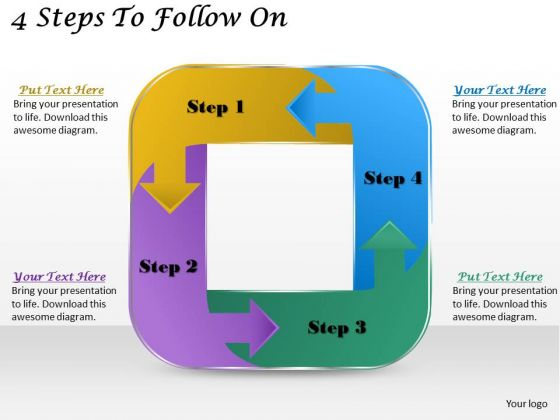 Timeline Ppt Template 4 Steps To Follow On