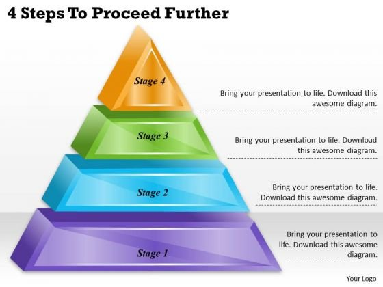 Timeline Ppt Template 4 Steps To Proceed Further