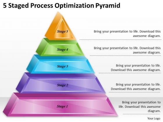 Timeline Ppt Template 5 Staged Process Optimization Pyramid