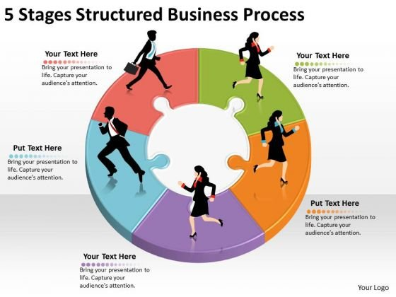 Timeline Ppt Template 5 Stages Structured Business Process