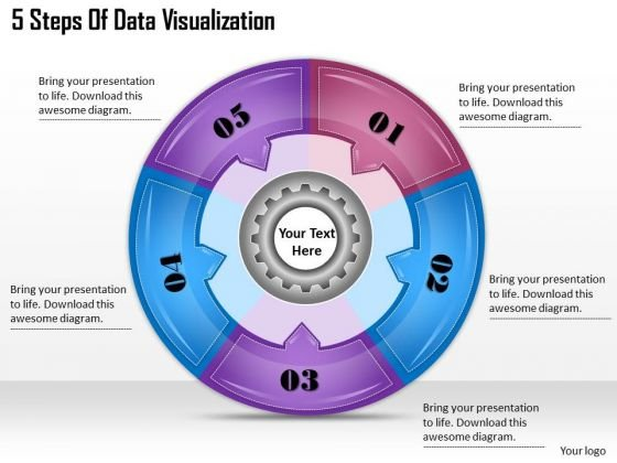 Timeline Ppt Template 5 Steps Of Data Visualization
