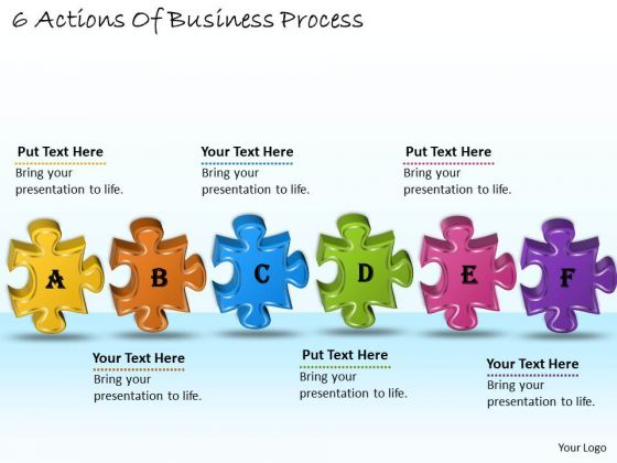 Timeline Ppt Template 6 Actions Of Business Process