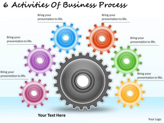 Timeline Ppt Template 6 Activities Of Business Process