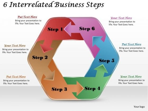 Timeline Ppt Template 6 Interrelated Business Steps