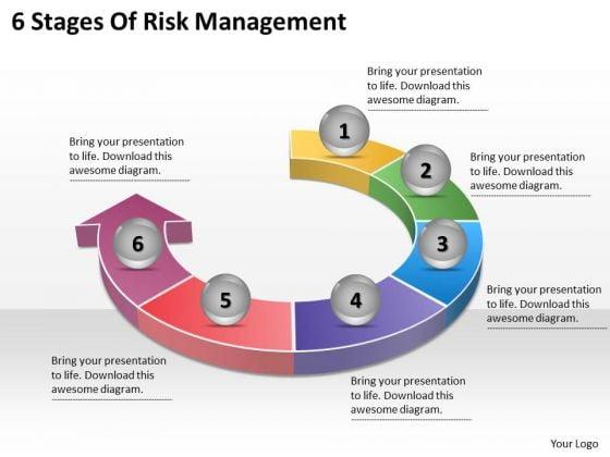 Timeline Ppt Template 6 Stages Of Risk Management