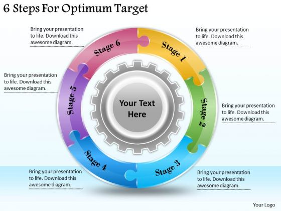 Timeline Ppt Template 6 Steps For Optimum Target