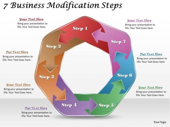 Timeline Ppt Template 7 Business Modification Steps