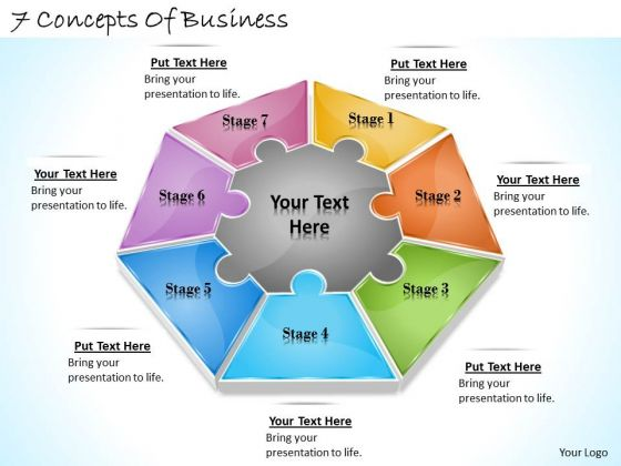 Timeline Ppt Template 7 Concepts Of Business