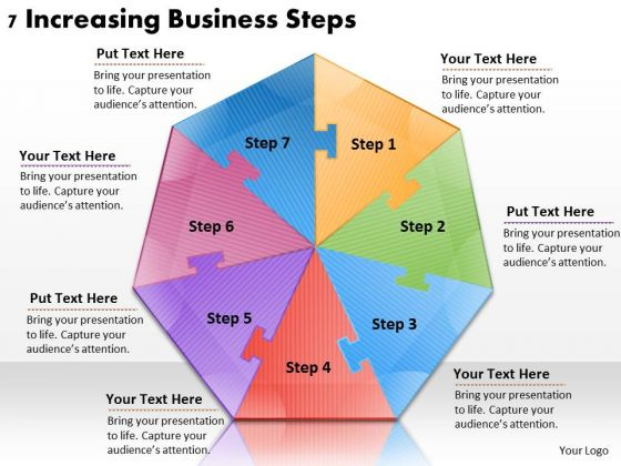 Timeline Ppt Template 7 Increasing Business Steps