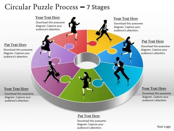 Timeline Ppt Template 7 Staged Business Circle Diagram