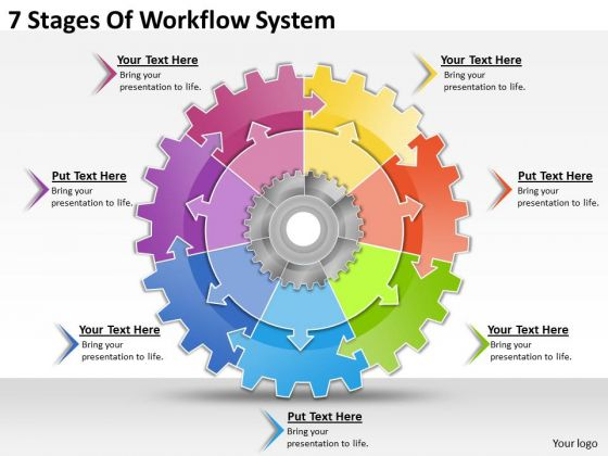 timeline ppt template 7 stages of workflow system powerpoint templates
